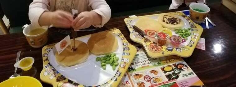 ガストのパンケーキプレート
